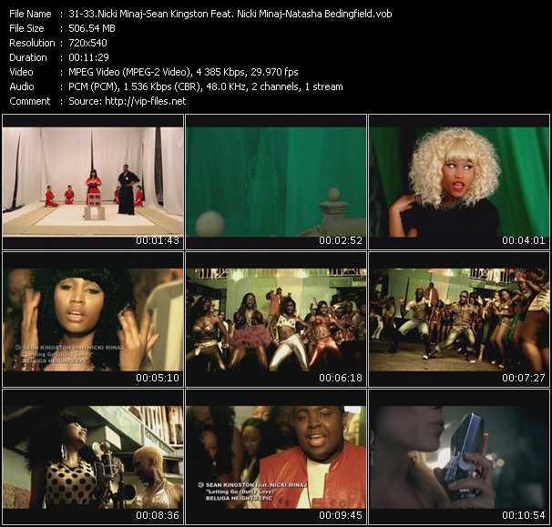 Nicki Minaj - Sean Kingston Feat. Nicki Minaj - Natasha Bedingfield - Your Love - Letting Go (Dutty Love) - Touch