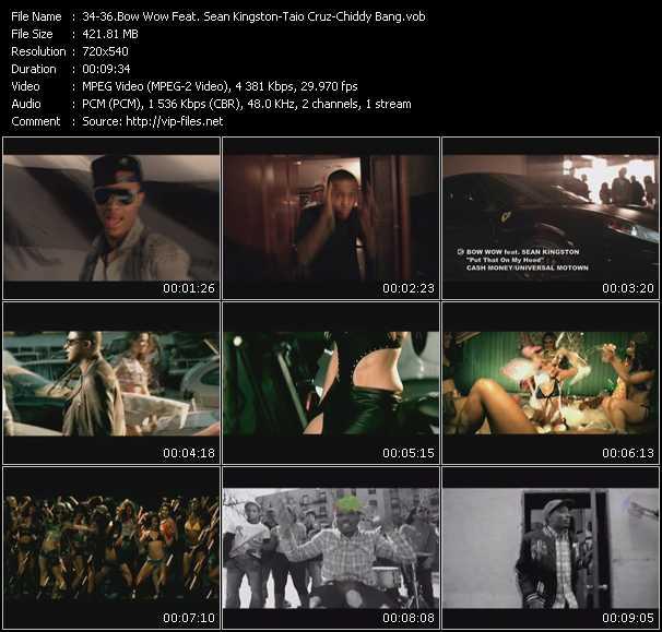 Bow Wow Feat. Sean Kingston - Taio Cruz - Chiddy Bang - Put That On My Hood - Dynamite - Truth