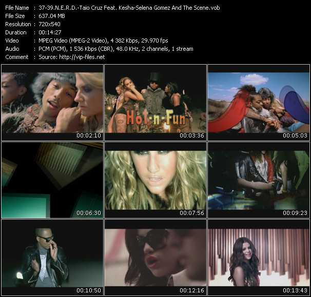 N.E.R.D. - Taio Cruz Feat. Kesha - Selena Gomez And The Scene - Hot-n-Fun (Boys Noize Mix) (VJ Tony MacAroni Video Mix) - Dirty Picture (Paul Thomas Mix) (VJ Tony MacAroni Video Mix) - Round And Round (Ranny's Club Mix Edit) (VJ Tony MacAroni Video Mix)