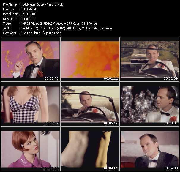 Miguel Bose video Tesoro