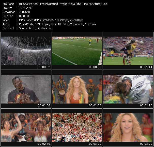 Shakira Feat. Freshlyground - Waka Waka (This Time For Africa)