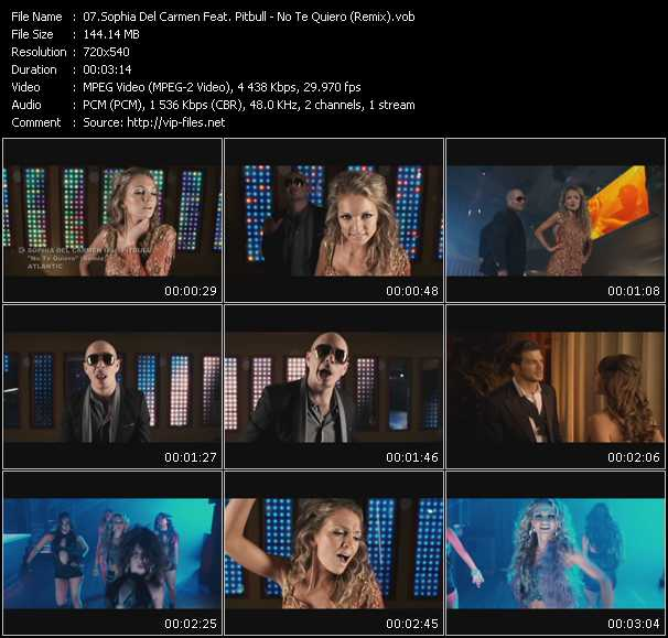 Sophia Del Carmen Feat. Pitbull - No Te Quiero (Remix)