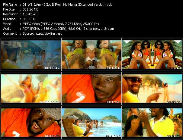 Will.I.Am - I Got It From My Mama (Extended Version)