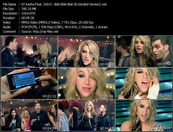 Kesha Feat. 3oh!3 - Blah Blah Blah (Extended Version)
