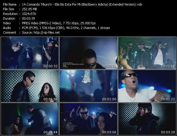 Comando Tiburo'n - Ella No Esta Por Mi (Blackberry Adicta) (Extended Version)