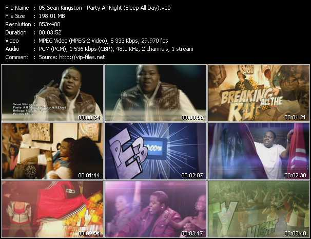 Sean Kingston - Party All Night (Sleep All Day)