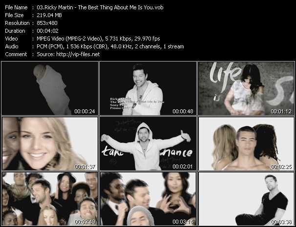 Ricky Martin - The Best Thing About Me Is You