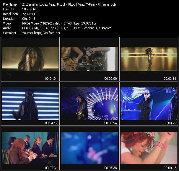 Jennifer Lopez Feat. Pitbull - Pitbull Feat. T-Pain - Rihanna - On The Floor - Hey Baby (Drop It To The Floor) - S And M