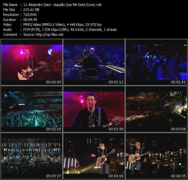 Alejandro Sanz - Aquello Que Me Diste (Live)