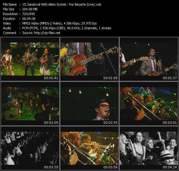 Sandoval With Aleks Syntek - Por Besarte (Live)