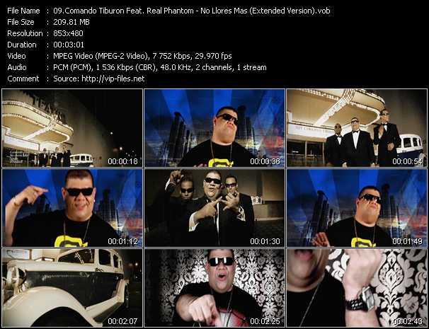 Comando Tiburon Feat. Real Phantom - No Llores Mas (Extended Version)