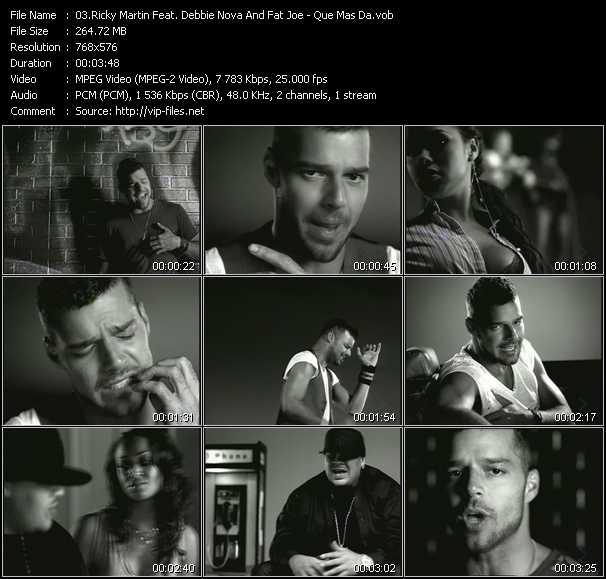 Ricky Martin Feat. Debbie Nova And Fat Joe - Que Mas Da