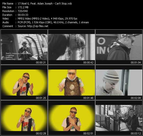 Noel G. Feat. Adam Joseph - Can't Stop