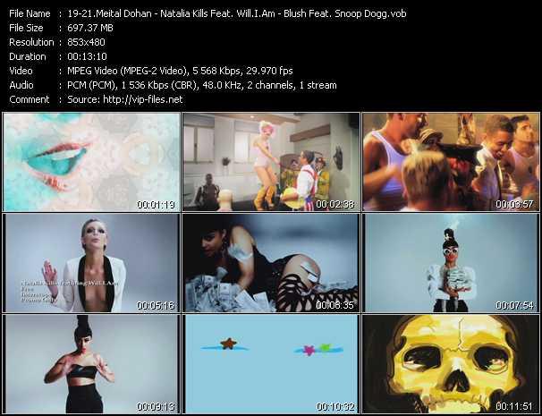 Meital Dohan - Natalia Kills Feat. Will.I.Am - Blush Feat. Snoop Dogg - Yummy Boyz (Chew Fu Extended Remix) - Free - Undivided (Dave Aude Remix)