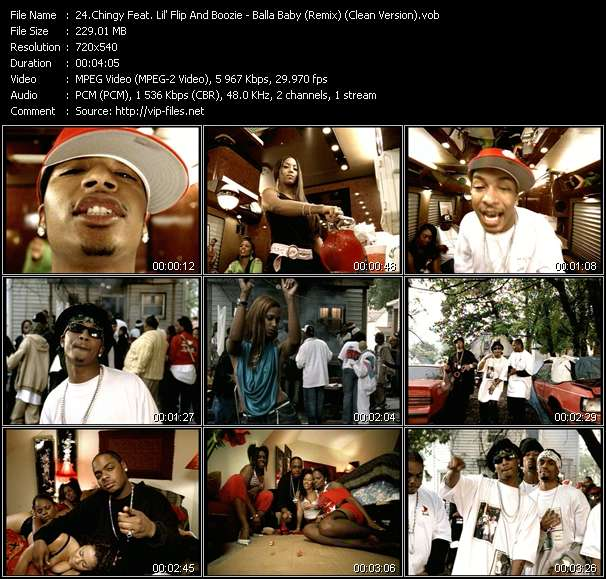 Chingy Feat. Lil' Flip And Boozie - Balla Baby (Remix) (Clean Version)