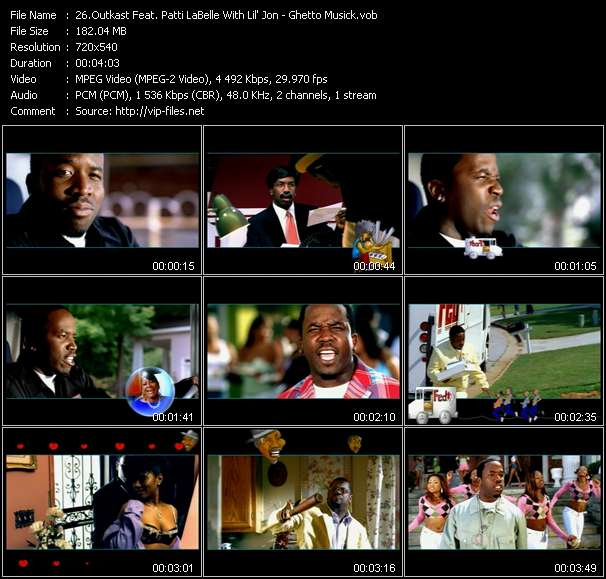 Outkast Feat. Patti LaBelle With Lil' Jon - Ghetto Musick
