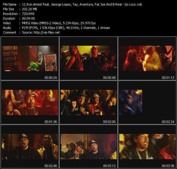 Ron Artest Feat. George Lopez, Taz, Aventura, Fat Joe And B-Real - Go Loco