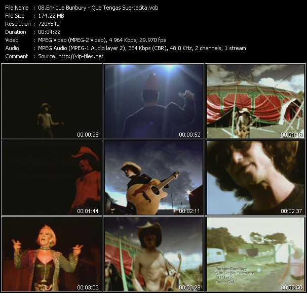 Enrique Bunbury - Que Tengas Suertecita