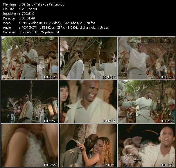 screenschot of Jandy Feliz video