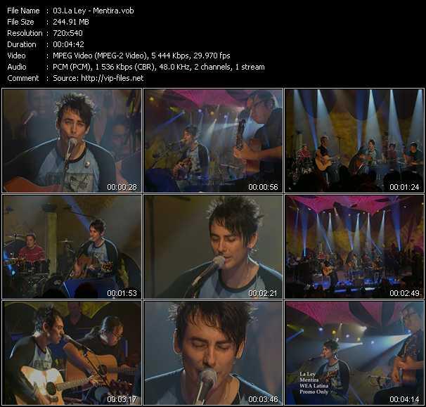 screenschot of La Ley video