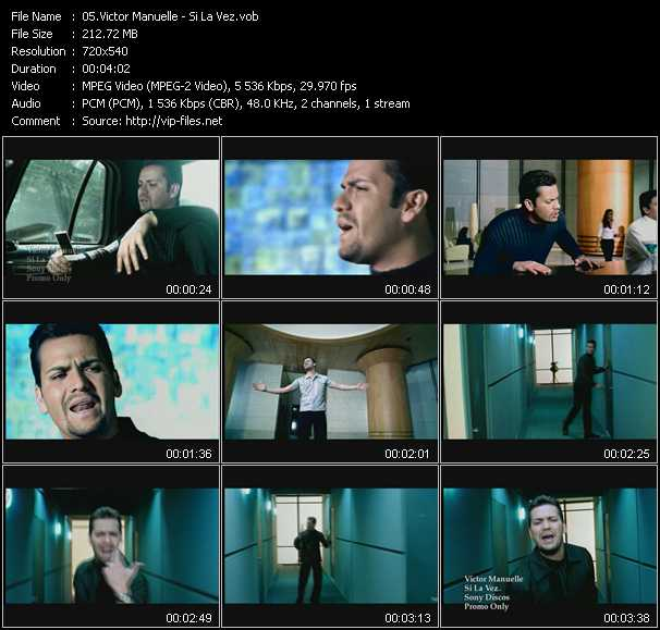 screenschot of Victor Manuelle video