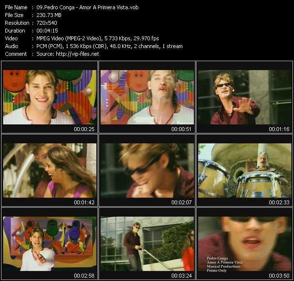 screenschot of Pedro Conga video