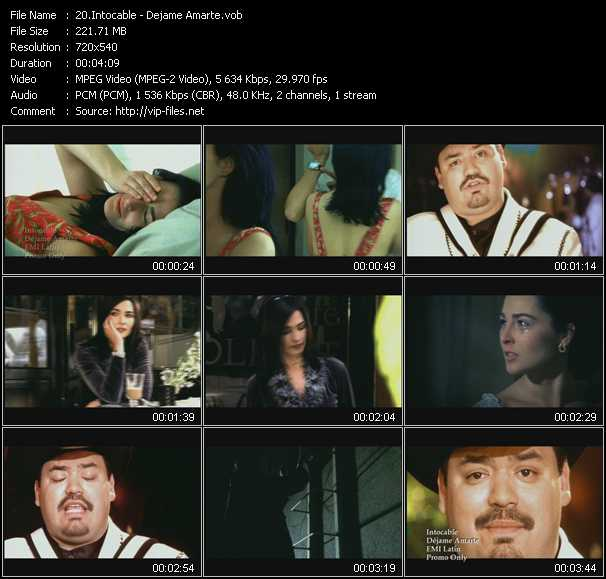 screenschot of Intocable video