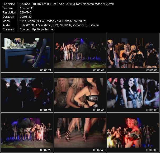 Inna - 10 Minutes (Hi-Def Radio Edit) (Vj Tony MacAroni Video Mix)