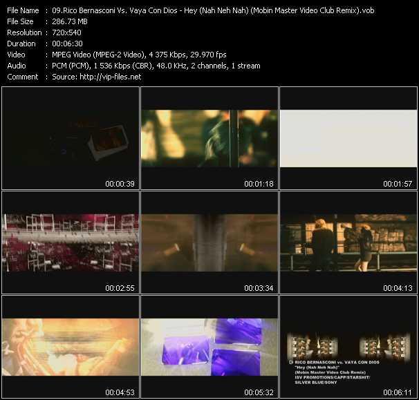Rico Bernasconi Vs. Vaya Con Dios - Hey (Nah Neh Nah) (Mobin Master Video Club Remix)