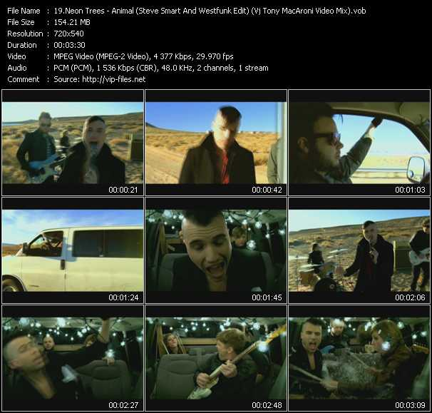 Neon Trees - Animal (Steve Smart And Westfunk Edit) (Vj Tony MacAroni Video Mix)