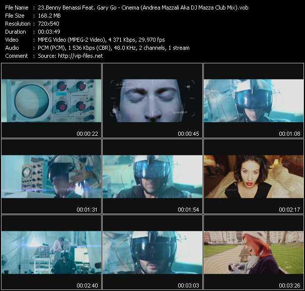 Benny Benassi Feat. Gary Go - Cinema (Andrea Mazzali Aka DJ Mazza Club Mix) (Vj Tony MacAroni Video Mix)