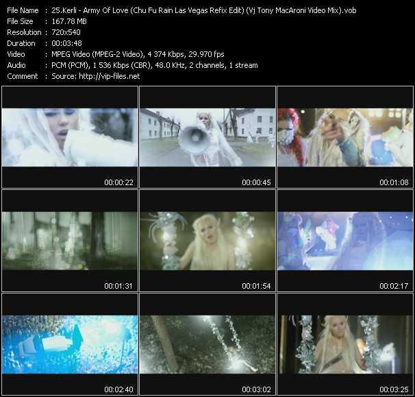 Kerli - Army Of Love (Chu Fu Rain Las Vegas Refix Edit) (Vj Tony MacAroni Video Mix)