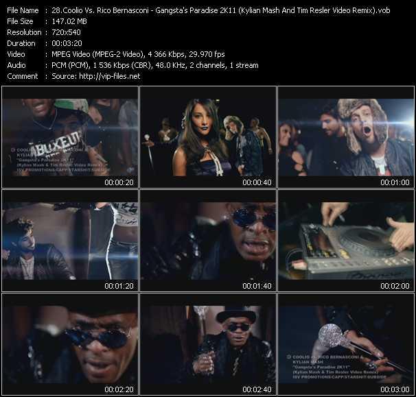 Coolio Vs. Rico Bernasconi And Kylian Mash - Gangsta's Paradise 2K11 (Kylian Mash And Tim Resler Video Remix)