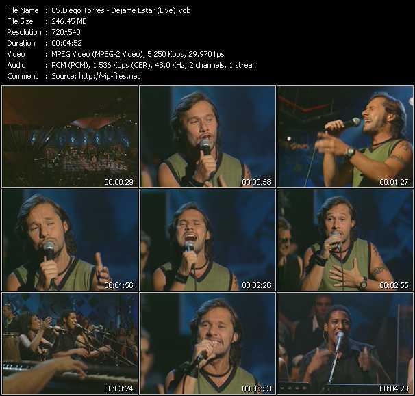Diego Torres - Dejame Estar (Live)