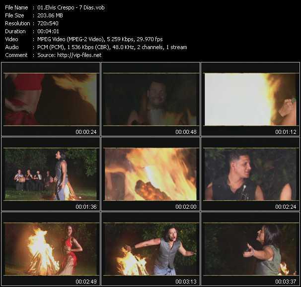 screenschot of Elvis Crespo video