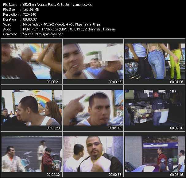 screenschot of Chon Arauza Feat. Kinto Sol video
