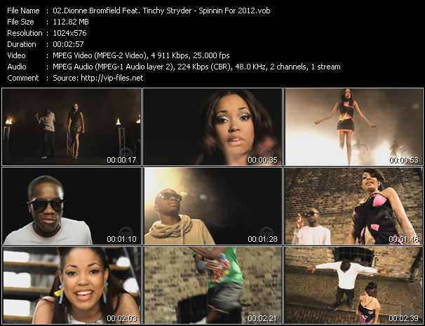 Dionne Bromfield Feat. Tinchy Stryder - Spinnin For 2012