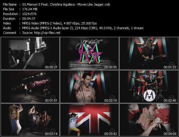 Maroon 5 Feat. Christina Aguilera - Moves Like Jagger