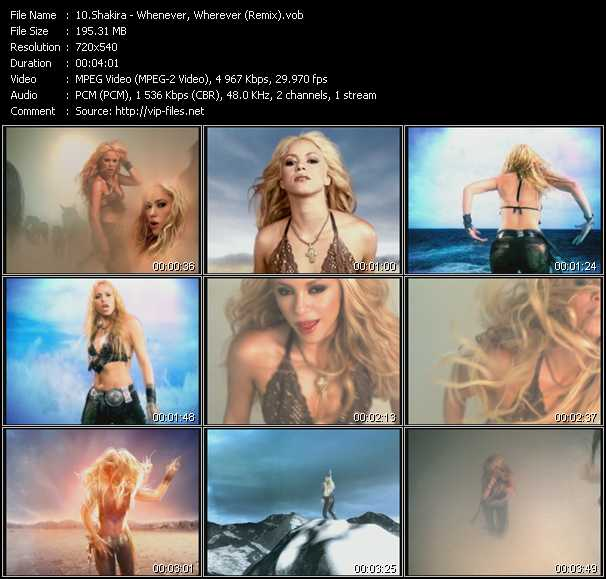 Shakira - Whenever, Wherever (Remix)