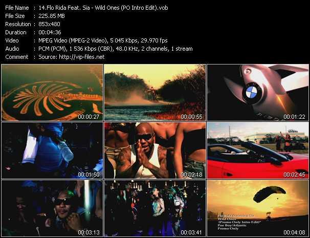 Flo Rida Feat. Sia - Wild Ones (PO Intro Edit)