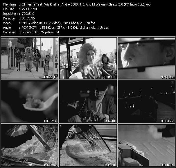 Kesha Feat. Wiz Khalifa, Andre 3000, T.I. And Lil' Wayne - Sleazy 2.0 (Get Sleazier) (PO Intro Edit)