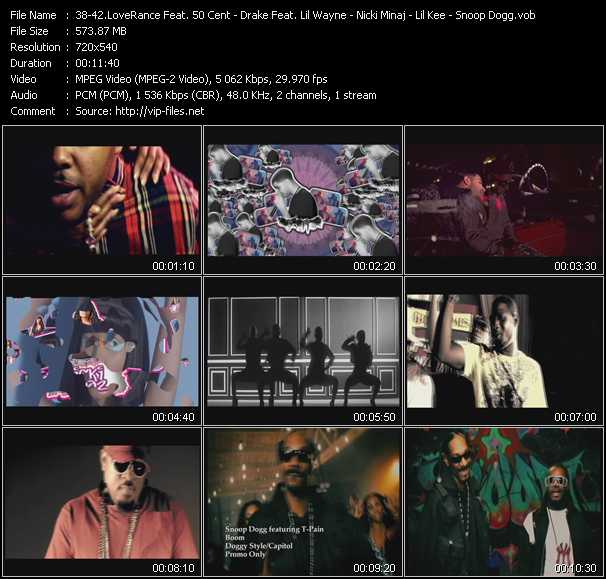 LoveRance Feat. 50 Cent - Drake Feat. Lil' Wayne And Tyga - Nicki Minaj - Lil' Kee Feat. Keezone Boyz - Snoop Dogg Feat. T-Pain - Up! - The Motto (Remix) - Stupid Hoe - Buss It Wide Open - Boom