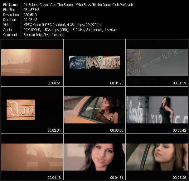 Selena Gomez And The Scene - Who Says (Bimbo Jones Club Mix) (Vj Tony MacAroni Video Mix)