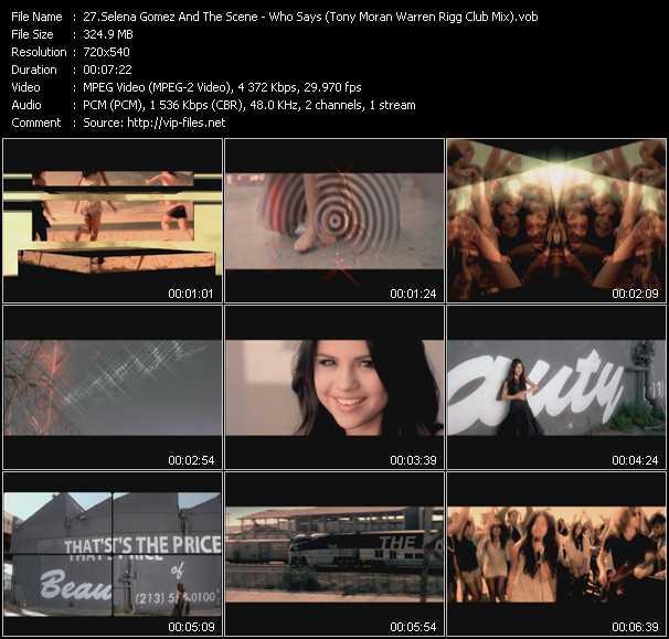 Selena Gomez And The Scene - Who Says (Tony Moran Warren Rigg Club Mix) (Vj Tony MacAroni Video Mix)