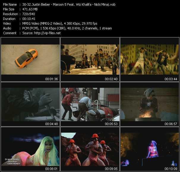 Justin Bieber - Maroon 5 Feat. Wiz Khalifa - Nicki Minaj - Boyfriend - Payphone - Starships