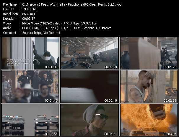 Maroon 5 Feat. Wiz Khalifa - Payphone (PO Clean Remix Edit)