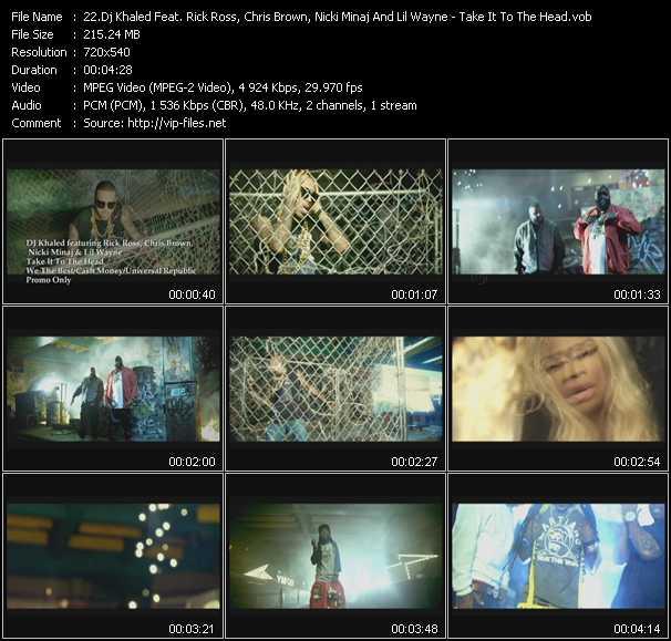 Dj Khaled Feat. Rick Ross, Chris Brown, Nicki Minaj And Lil' Wayne - Take It To The Head