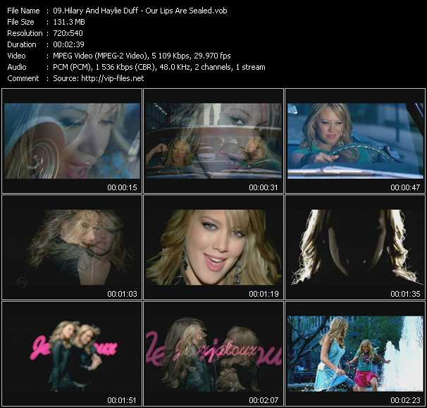 Hilary Duff And Haylie Duff - Our Lips Are Sealed