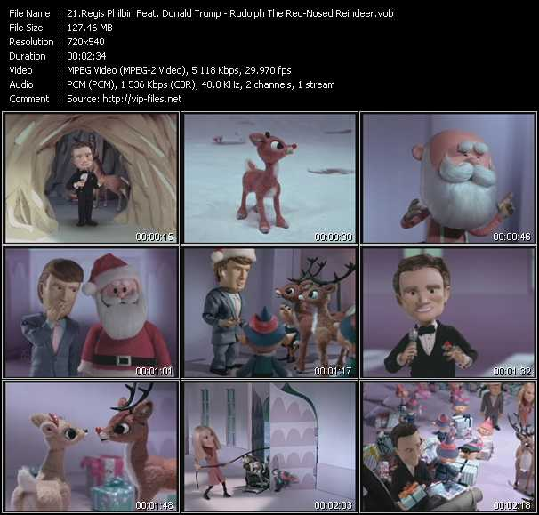 Regis Philbin Feat. Donald Trump - Rudolph The Red-Nosed Reindeer