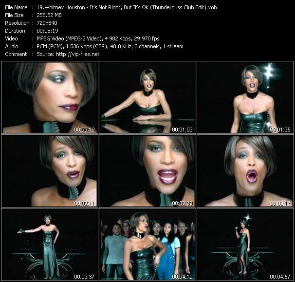 Whitney Houston - It's Not Right, But It's OK (Thunderpuss Club Edit)